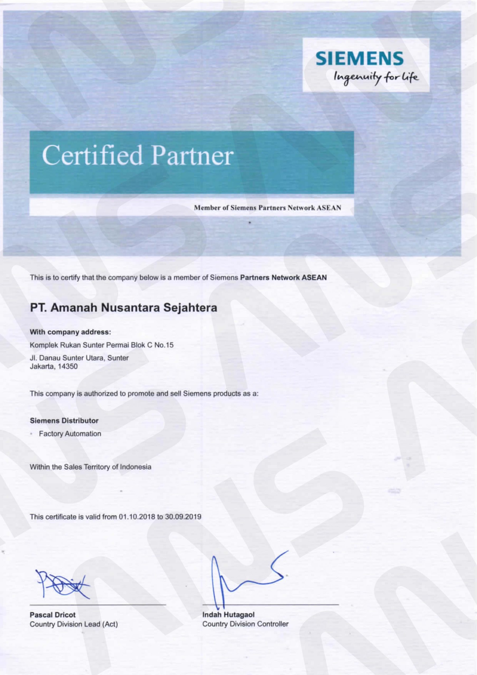 CERTIFIED PARTNER SIEMENS