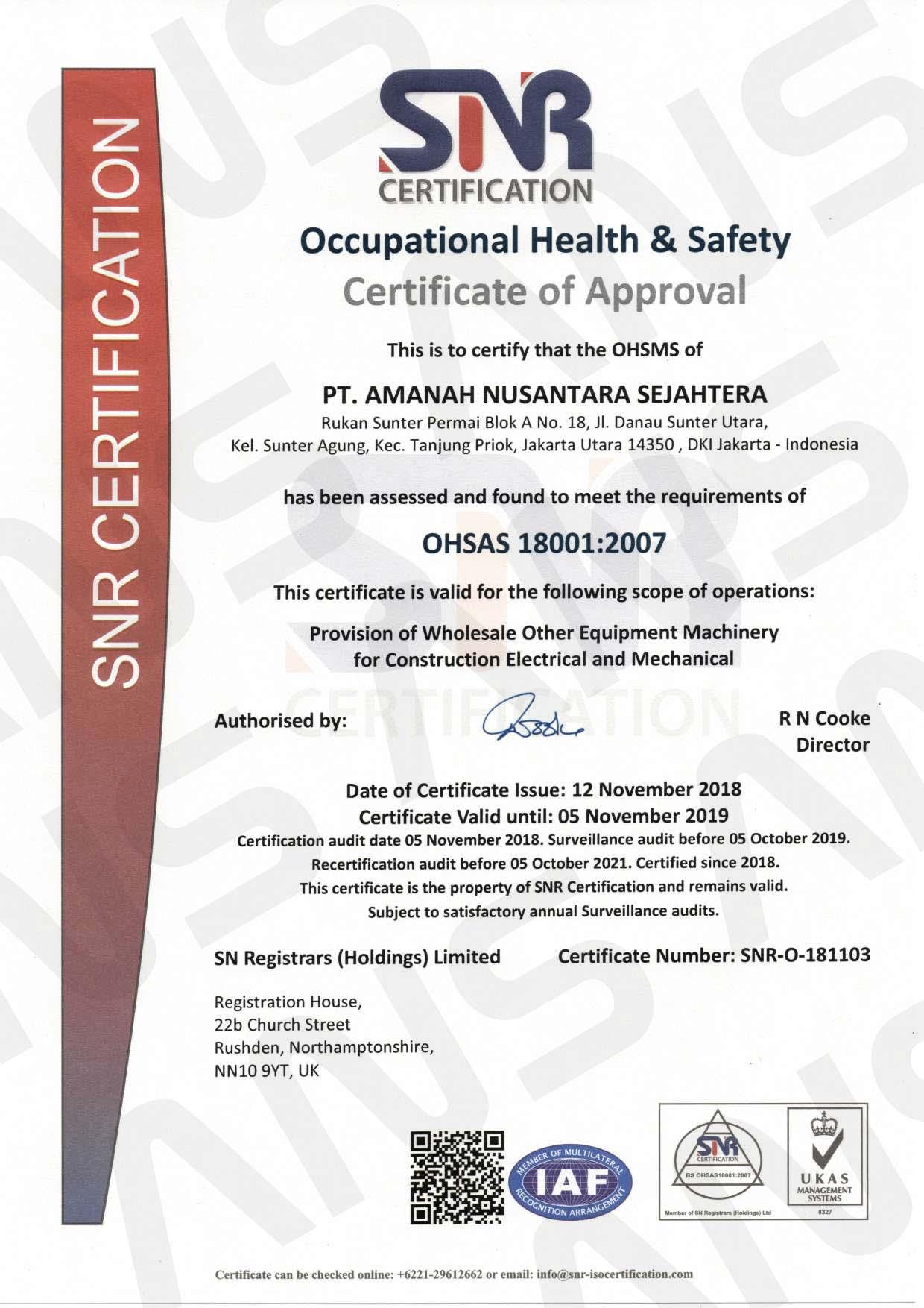 OHSAS-18001;2007