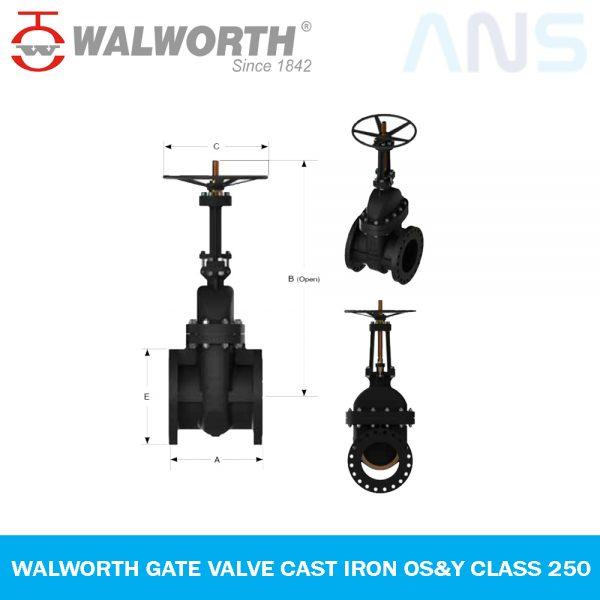 Gambar 1 WALWORTH Gate Valve Cast Iron OS&Y Class 250