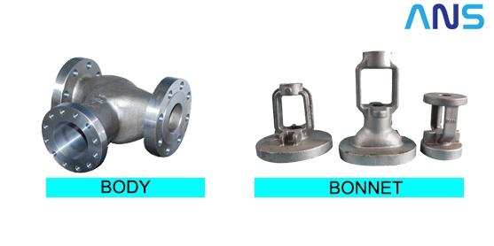 Bagian valve : Body dan Bonnet
