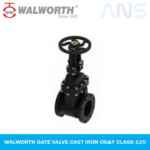 WALWORTH GATE VALVE CAST IRON OS&Y CLASS 125