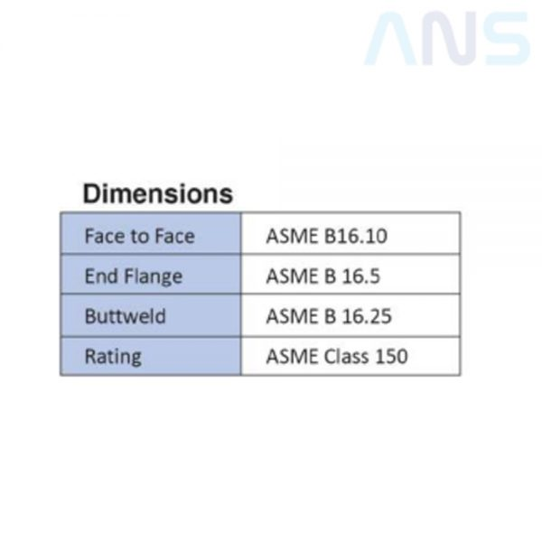 Dimension ANS Cast Steel Gate Valve