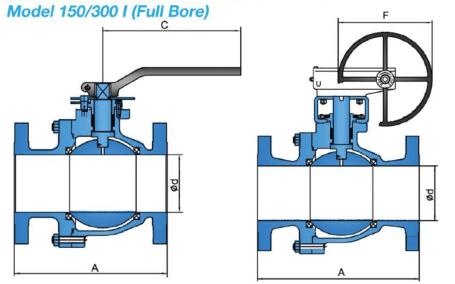 Split Body Floating Ball Valve Model 150 300 I (Full Bore)